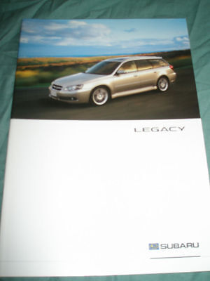 Subaru Legacy range brochure 2004 French text