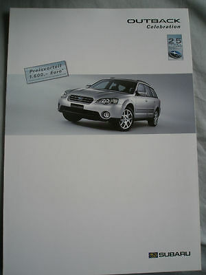 Subaru Outback Celebration brochure Jun 2005 German text