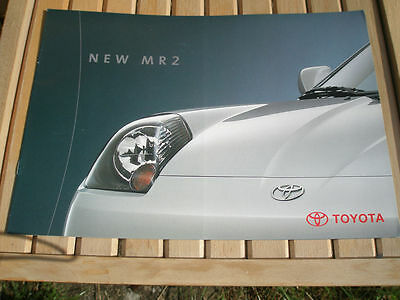 Toyota MR2 Roadster brochure c2000 Swiss market French text