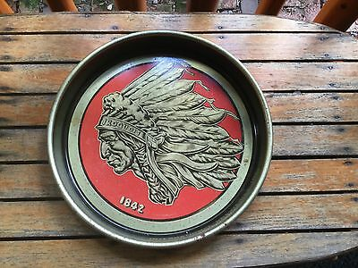 Vintage Beer tray Iroquois Indian Buffalo NY International Breweries Inc