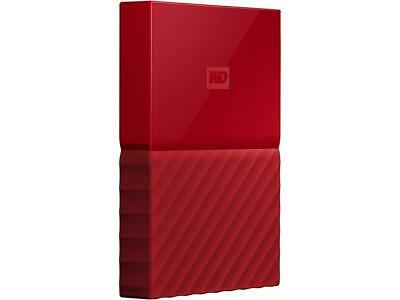 WD 1TB My Passport Portable Hard Drive USB 3.0 Model WDBYNN0010BRD-WESN Red