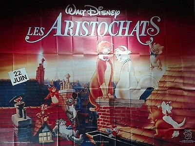 RR1988 THE ARISTOCATS Walt Disney very RARE French GIANT film poster