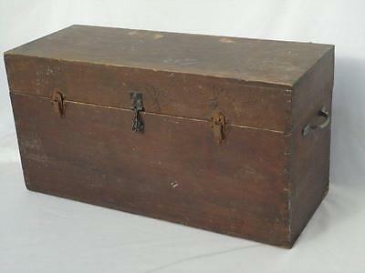 Vintage Wooden Tool Storage Box Handles Clasps Hasp Collectible
