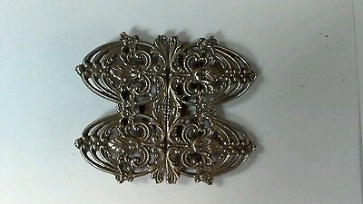 Solid silver nurses belt buckle  41.4 grams