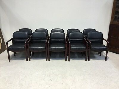 Set Of 10 Retro Design Leather Captains Office Chairs £90 Each Gordon Russell ??