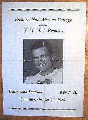 1945 Eastern New Mexico@new Mexico Military Institute-Roswell Football Program