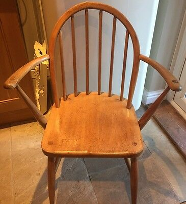 Ercol Windsor Carver ~ Blue Label - Light Elm ~ Blonde