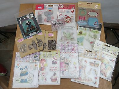 Large bundle of Occasion Themed rubber stamps inc Christmas card making