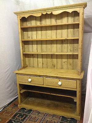 Victorian  style pine farmhouse country welsh dresser REDUCED