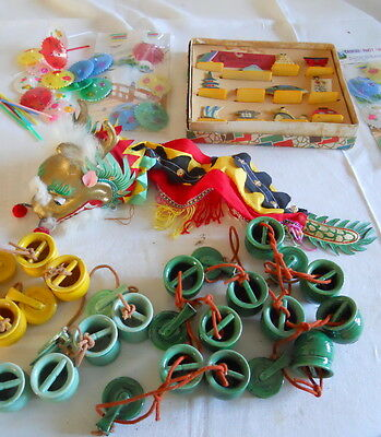 Vintage Japanese Lot of Decorations & Dragon