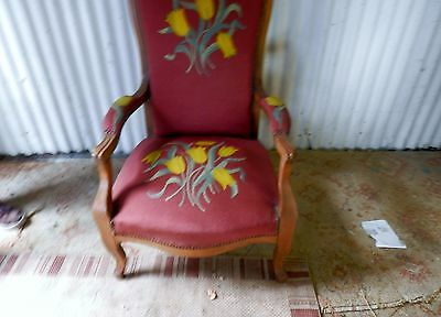 Delightful Vintage Armchair, Tapestry Covered