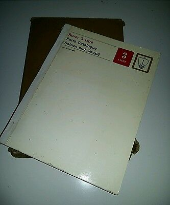 Rover P5 3 Litre Parts Catalogue Saloon Coupe fully illustrated parts list 1st e