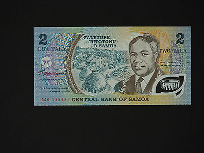 Samoa Banknotes  2 Tala Commemorative Note  -  Quality Polymer Issue   Mint Unc