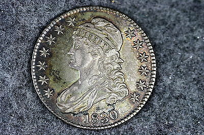 1830 Estate Find Capped Bust Half Dollar!! #D0065