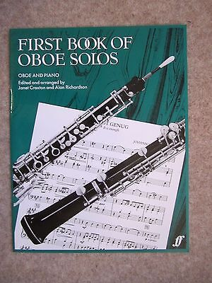 First Book of Oboe Solos with Piano Accompaniment  *NEW*