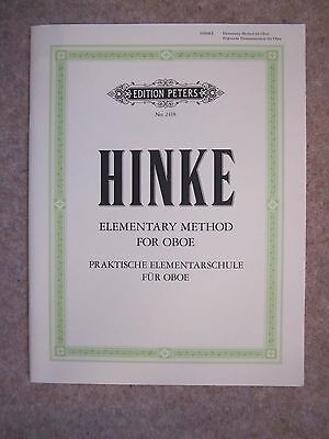 Hinke Elementary Method for Oboe  *NEW* published by Peters 2418