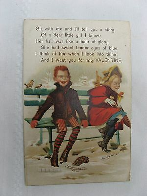 c. Early 1900s CREEPY Valentine Post Card w/'Panama-Pacific Expo' cancel on back