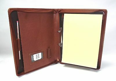 Braunes Leder A4 Mappe Organiser Mappe Personalisierung option IT08/ 2 ring