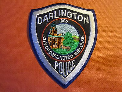 Collectible Wisconsin Police Patch Darlington New