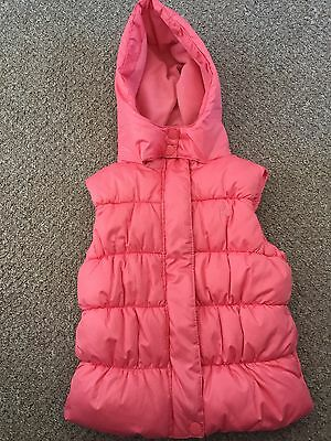Girls Bright Pink Puffa Summer Gillet From Next Age 5-6 Years