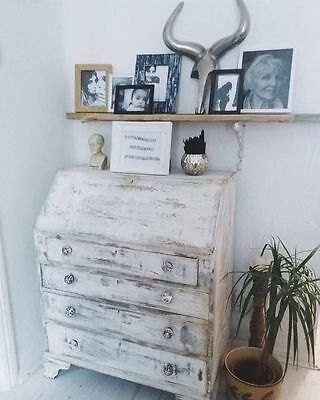 Annie Sloan Refurb Vtg Retro Bureau Dresser Chest Of Drawers Desk Shabby Chic