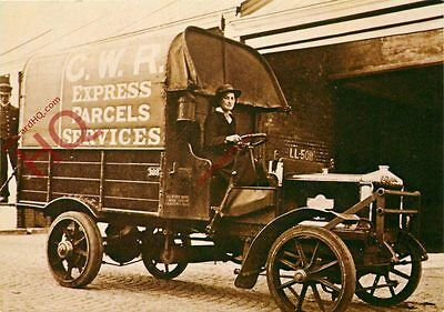 Postcard: GWR Express Parcel Services, Women In Work During The Great War(Repro)