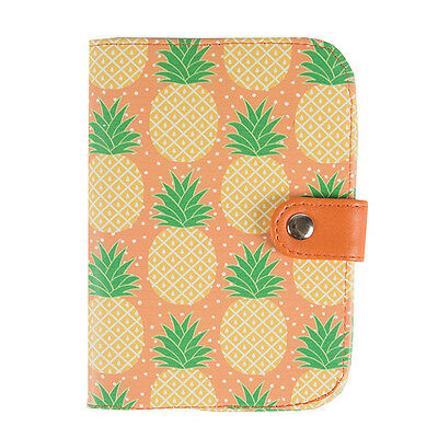 Sass and Belle PVC Passport Holder - Tropical Pineapple design. Travel accessory