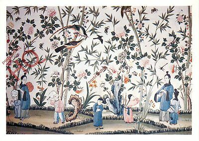 Postcard: Longleat House, Eighteenth-Century Hand-Painted Chinese Wallpaper