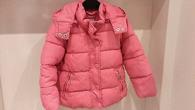 Girls 3-4 years Pink Dodipetto Padded Jacket with detachable hood