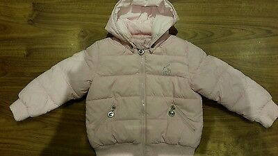 Pink Dodipetto infant girls (XL) 3 years padded anorak with detachable hood
