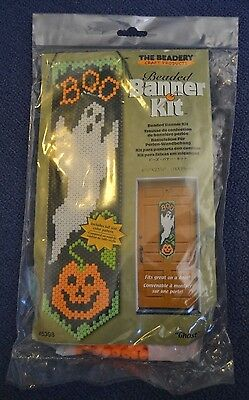 """The Beadery #5398 """"ghost"""" Beaded Banner Kit, New! 6 1/4"""" X 23 1/4"""" Made In Usa"""