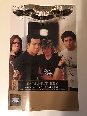 "Fall Out Boy From Under The Cork Tree 11""x17"" Poster SIGNED"