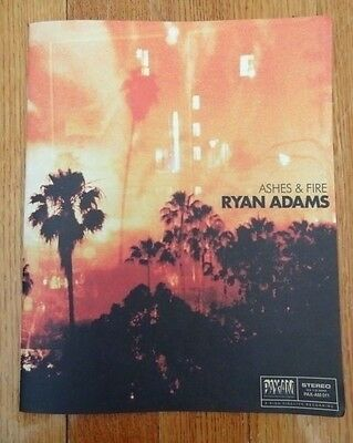 RYAN ADAMS ashes and fire SONG BOOK promotional collectible 8 x 10