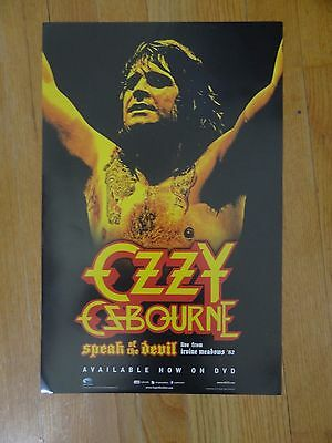 Ozzy Osbourne Poster 11 x 17 speak of the devil Promotional collectible