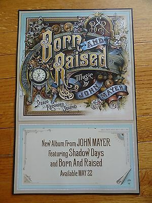 John Mayer Poster promotional 11 x 17 Born and Raised shadow days Collectible