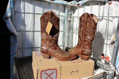 39-12 New Twisted X WOMENS 8.5B Chocolate Python western boots was 199.00