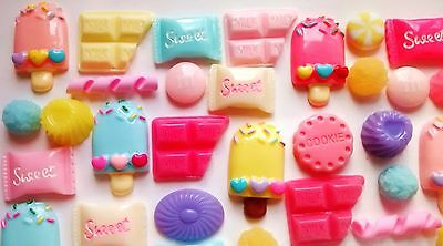 50 / 100 pcs Fake candy decoden cabochon mix jelly sweets lolly cabs craft hobby