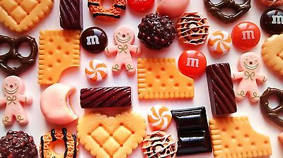 10/20 pcs candy chocolate orange gingerbread fake food cabochons decoden crafts