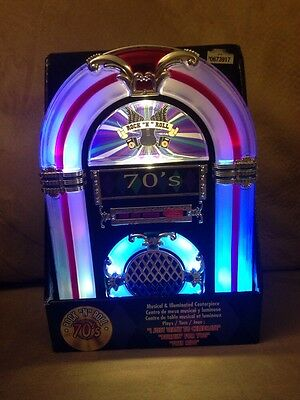 """American Girl 18"""" Doll Size Light Up Musical 70's Rock N Roll Juke Box Table Top"""
