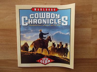 Marlboro Cowboy Chronicles Booklet 2001 Collector w/Marlboro Miles Items