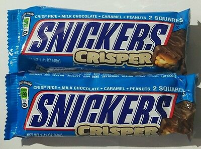 Snickers Crisper Chocolate bar 40g x 2