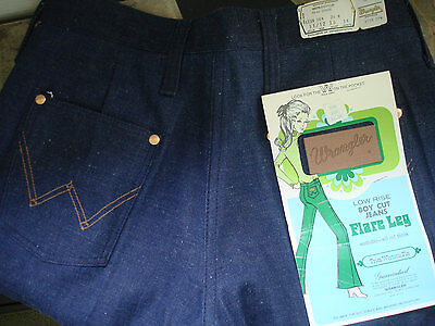 """Vintage 1960 s womens jeans Wrangler waist 28"""" NOS old dead stock NWT size 2"""