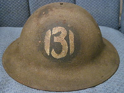 RARE WWI 131st Infantry, 33rd Division Painted Helmet