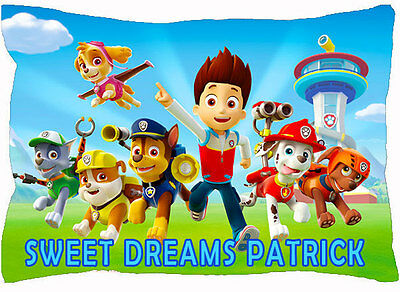Custom Name PAW Patrol Bed Pillowcase Pillow Case Cover