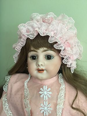 """Antique Doll Simon & Halbig 1010 Bisque On A Kid Body 24"""""""
