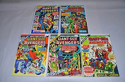 Giant-Size Avengers 1 2 3 4 5 1-5 Complete Set Run