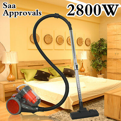 2800W Bagless Cyclone Cyclonic Vacuum Cleaner Filtration System Floor Brush Wash