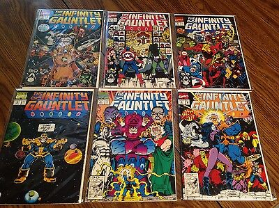 THE INFINITY GAUNTLET #1-6 1 2 3 4 5 6 FULL SET Thanos