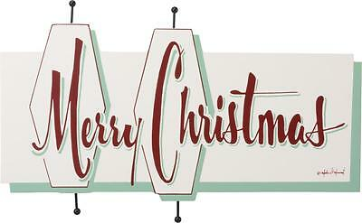 """NEW 16"""" Primitives By Kathy Merry Christmas Wooden Sign 33860"""