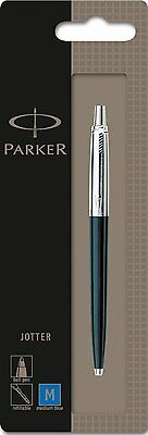 Parker Jotter Standard Black Retractable Ballpoint Pen, Each